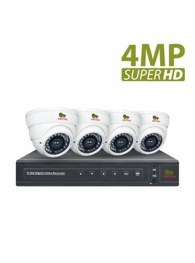 4.0MP Indoor set PRO AHD-72 4xCAM + 1xDVR