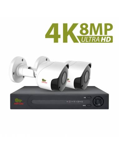 8.0MP (4K) Outdoor set IP-89 2xCAM + 1xNVR
