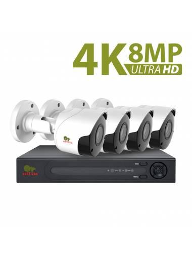 8.0MP (4K) Outdoor set IP-90 4xCAM + 1xNVR